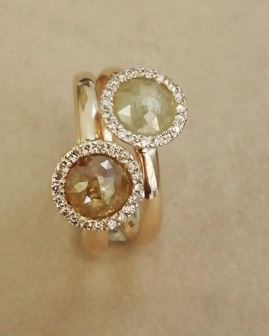 Anelli in oro rosa con diamanti di Daniele Pifferi gioielli